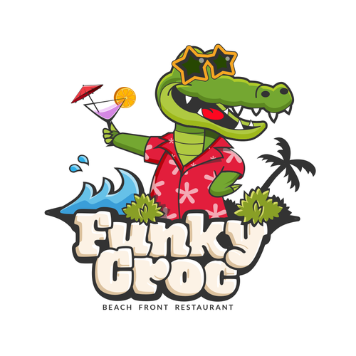 Crocodile logo with the title 'Funky Croc'