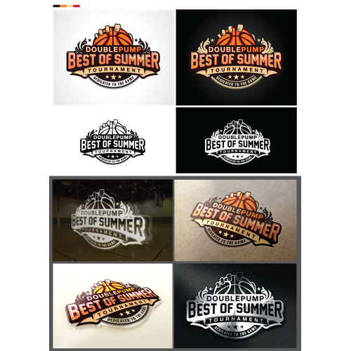 Basketball logo with the title 'Basketball Company Needs a Cool Event Logo Graphic (#4)'
