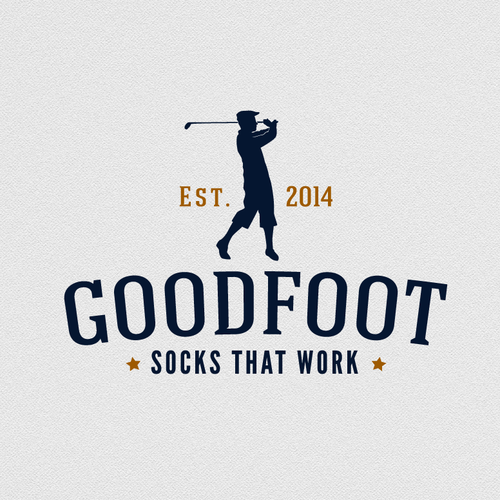Sock logo with the title 'Create a standout logo for GoodFoot sock company'