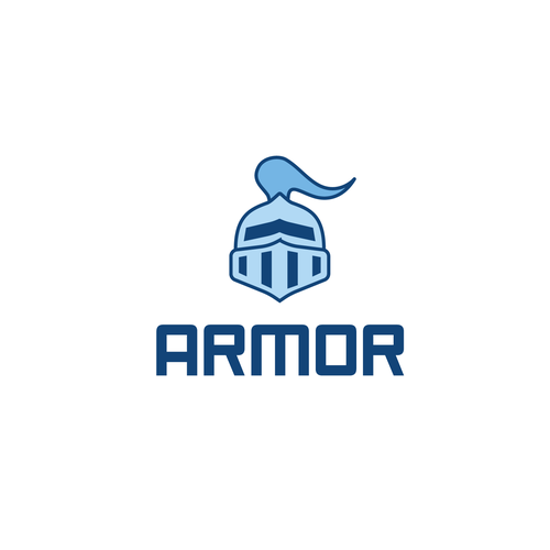Armor logo with the title 'Cryptocurrency wallet logo'