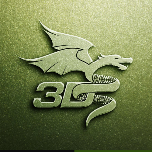 Dragon logo with the title 'Create a new Logo for a 3D Printer Startup!'