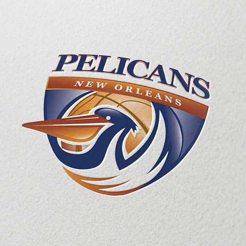 Emblem logo with the title 'Logo for brand the New Orleans Pelicans'