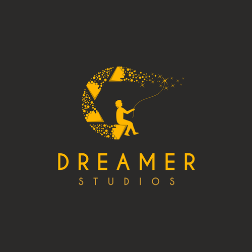 Girl logo with the title 'Dreamer - Logo for a  wedding photography studio'