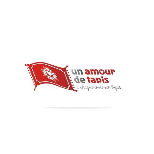 Carpet logo with the title 'Un Amour De Tapis'