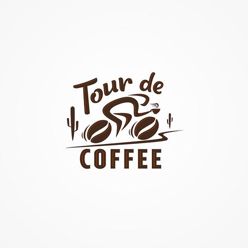 Tour logo with the title 'Tour de Coffee Logo'