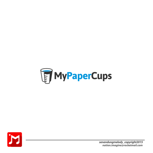 Conceptual logo with the title 'paper cup '