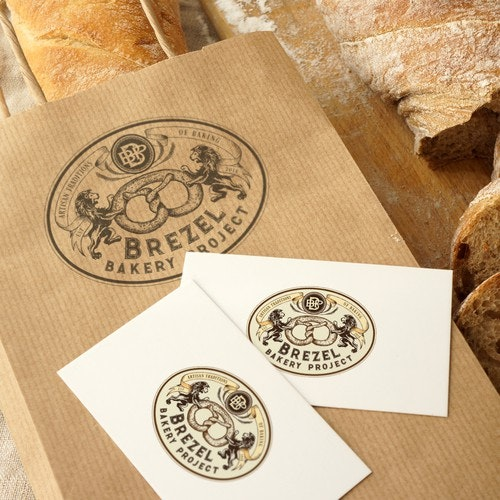 Cafe logo with the title 'Bakery logo'