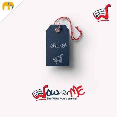 Shopping cart logo with the title 'WOWzerME logo design'