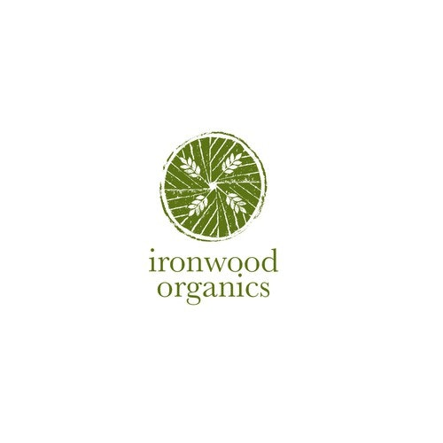 Brush logo with the title 'Logo For Organic Grain Producers '