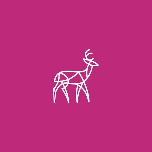 Antelope logo with the title 'Modern Logo Design'