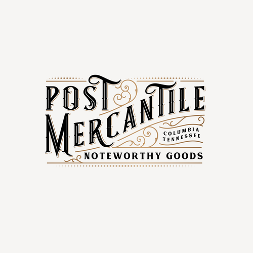 Golden ratio logo with the title 'Logo for Post Mercantile '