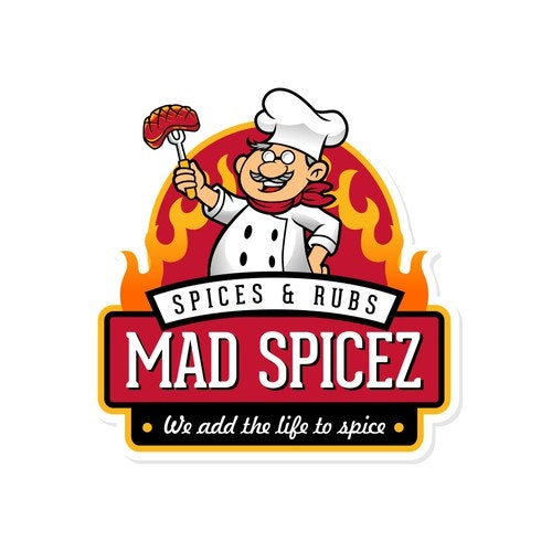 Flame logo with the title 'Logo for new Spice Company - Pacific NW flavor'