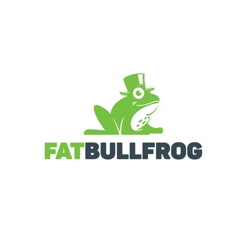 Hat logo with the title 'Fat Bullfrog'