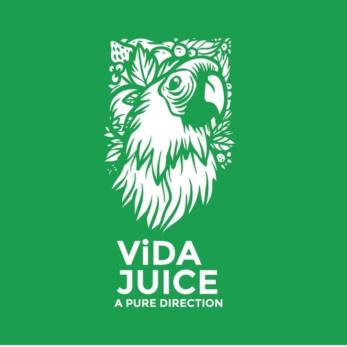 Juice logo with the title 'Logo for Vida Juice (Organic Juice)'