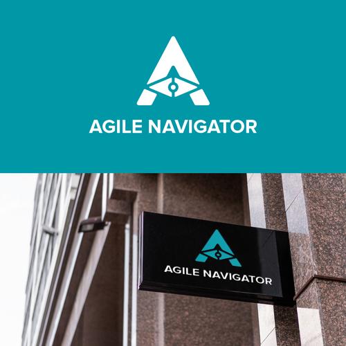 Navigation logo with the title 'Agil Navigator Logo Design'