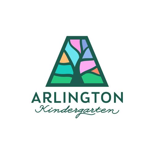 Kindergarten logo with the title 'Logo concept for a kindergarten'