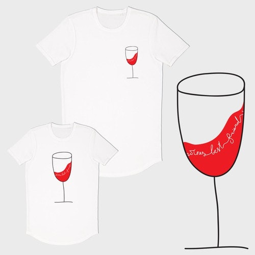 Wine t-shirt with the title 'concept for a T-shirt'