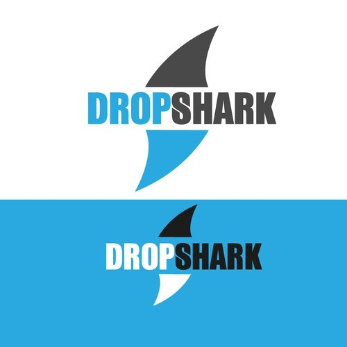 IT logo with the title 'Logo design for technology company DropShark'