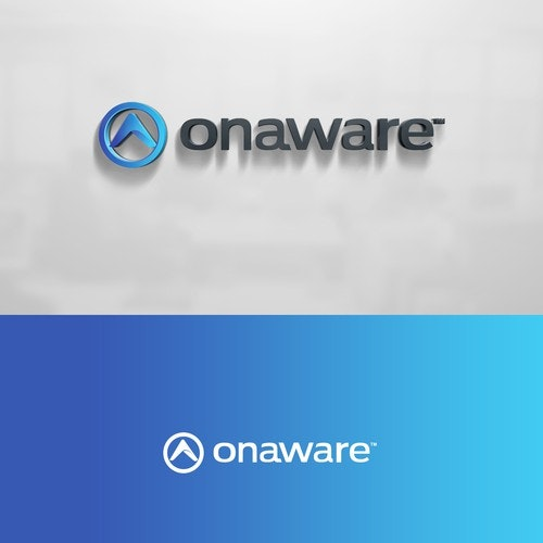 Management logo with the title 'Logo design for Onaware'