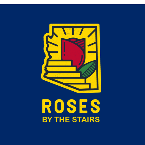 Stair logo with the title 'Roses By The Stairs'