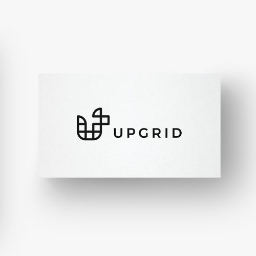 Contemporary logo with the title 'Upgrid'