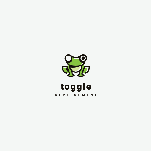 Web logo with the title 'Toggle Development'