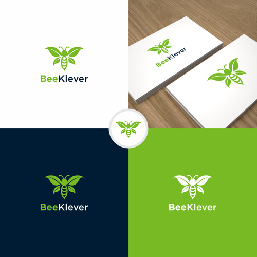 "PC logo with the title 'DESIGN NEW LOGO for ""BeeKlever"" - eco friendly company'"