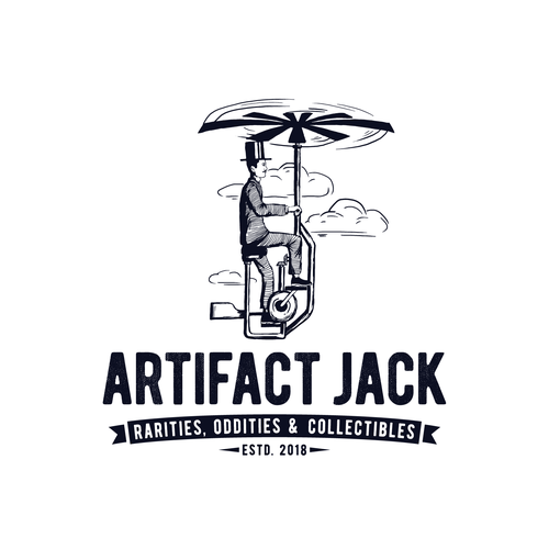 Flying logo with the title 'Logo design for rarities collector'