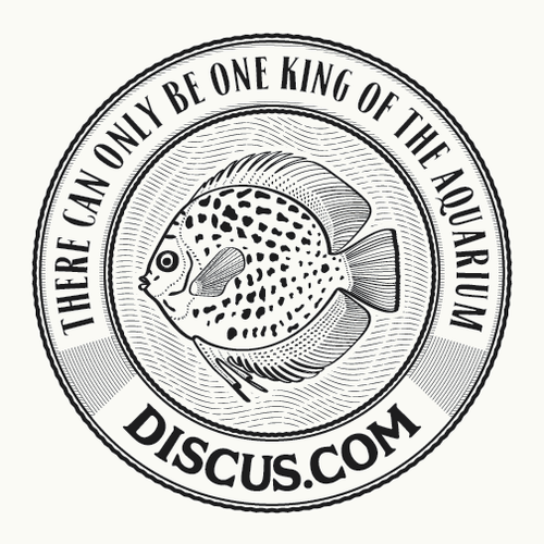 Aquarium logo with the title 'logo for Discus.com'