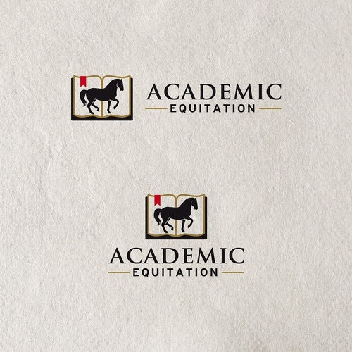 Training logo with the title 'Academic Equitation logo for horse training company'