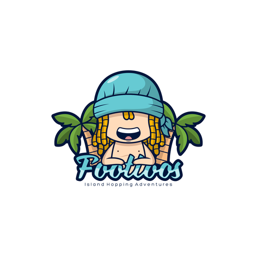 Island logo with the title 'Playful logo concept for Footloos'