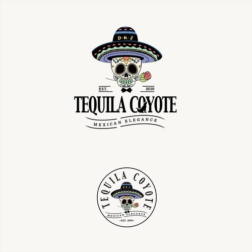 Mexican logo with the title 'tequila coyote'