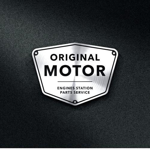 Motor logo with the title 'Logo e-commerce motor'