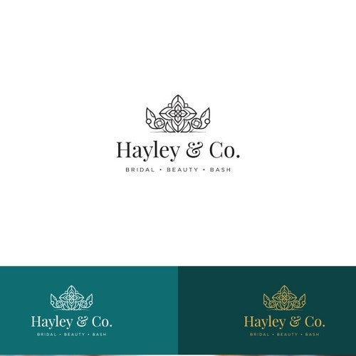 Royal logo with the title 'Fun Bridal Hair and Makeup Company Logo'