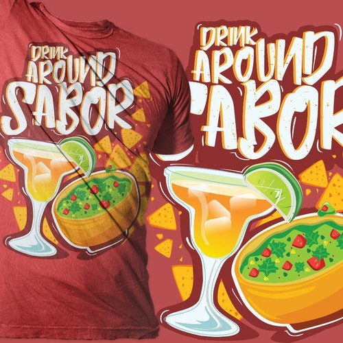 Bar t-shirt with the title 'margarita with chips and salsa tees'