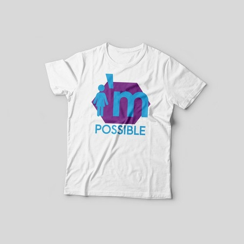 Powerful t-shirt with the title 'T-shirt design'