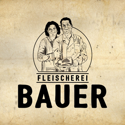 Local logo with the title 'Local butcher logo design'