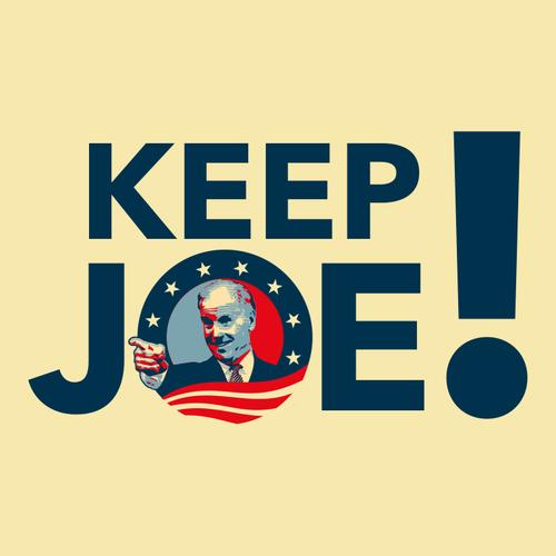 Politics logo with the title 'Keep Joe'
