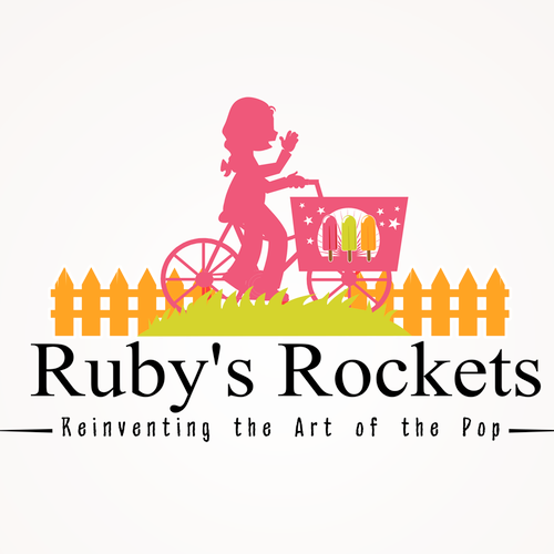 Cream logo with the title 'Ruby's Rockets'