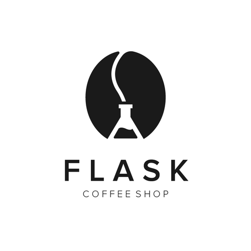 Discover logo with the title 'Flask Coffee Shop'