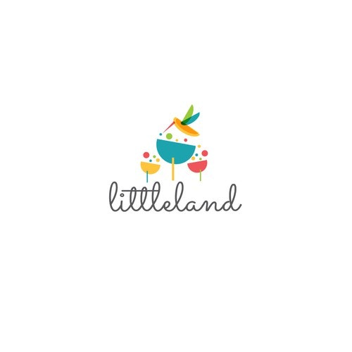 Colibri logo with the title 'Creative and colorful logo for the unique child play space.'