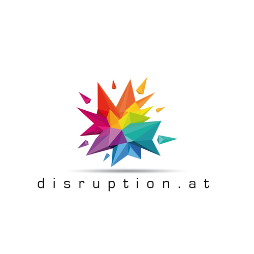 Origami logo with the title 'disruption.at'