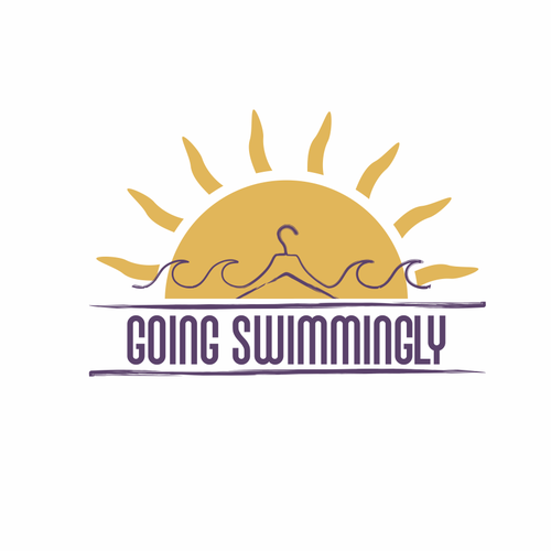 Hanger logo with the title 'Going Swimmingly brand logo'