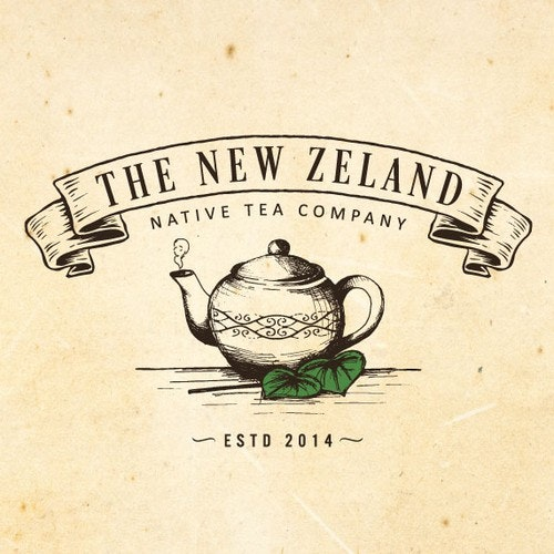 Emblem logo with the title 'Create a classic/rustic logo for a unique herbal tea company!'