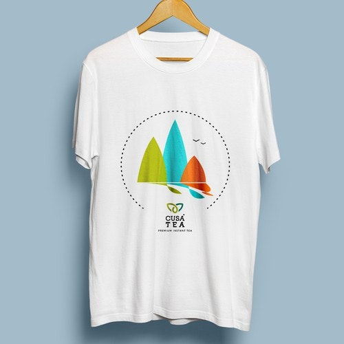 Vibrant t-shirt with the title 'T-shirt design for CusaTea - Premium Instant Tea'