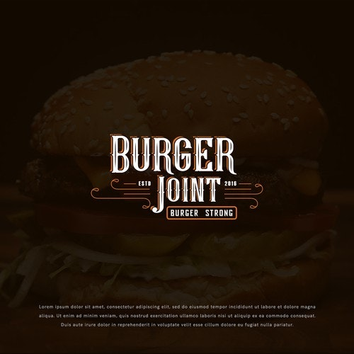 Western logo with the title 'Logo design concept for Burger Joint'