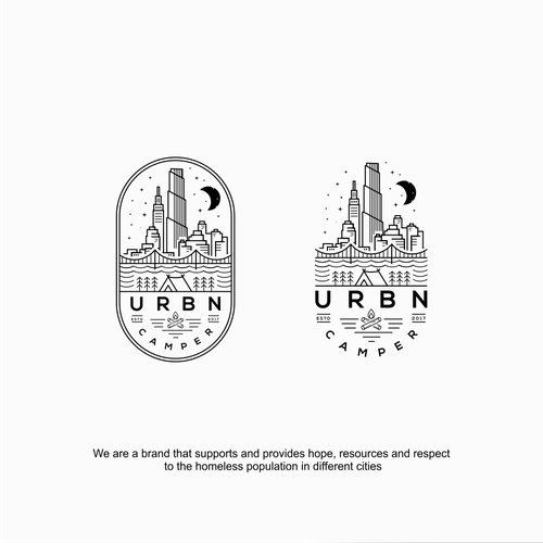 Skyline logo with the title 'urbn camper'