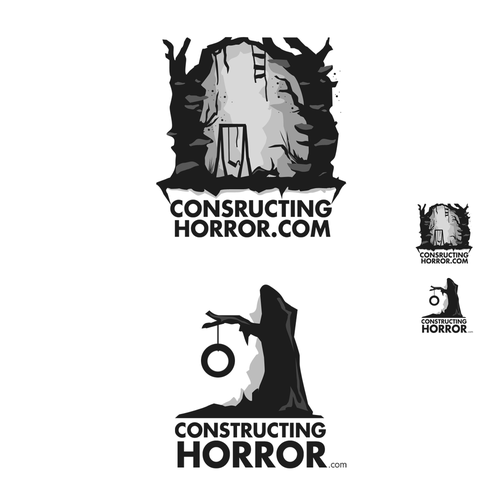 Scary logo with the title 'Create the next logo for constructinghorror.com'