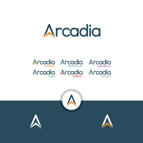 A logo with the title 'Arcadia '