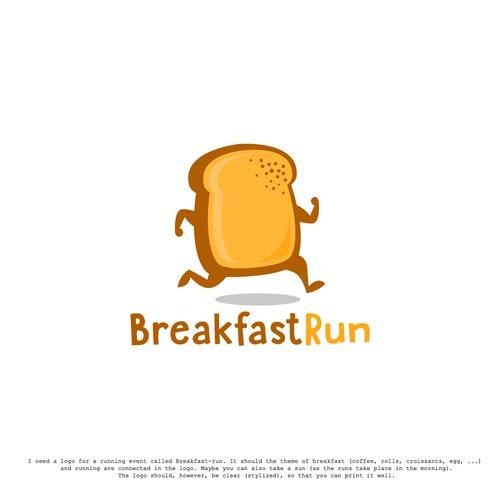 Breakfast logo with the title 'BreakfastRun'
